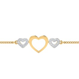 The Hearty Diamond Chain Bracelet