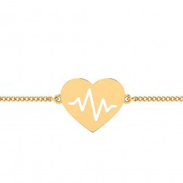 The Heart Beat Gold Bracelet