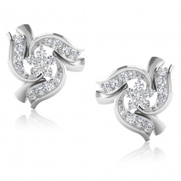 The Ramosa Silver Stud Earrings