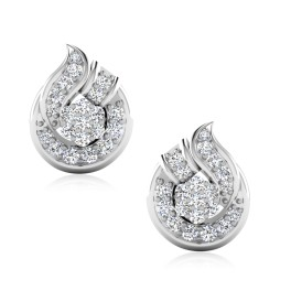 The Blooming Silver Stud Earrings