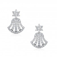The Cantisa Silver Stud Earrings