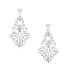 The Aspena Flora Silver Dangle Earrings