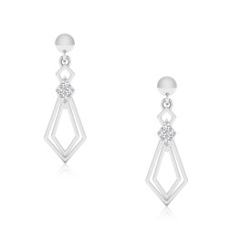 The Pallavi Silver Dangle Earrings