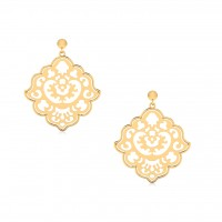 The Atticus Flora Gold Dangle Earrings