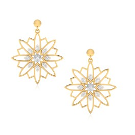 The Majestic Sun Diamond Dangle Earrings