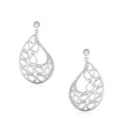The Vivid Paisley Silver Dangle Earrings