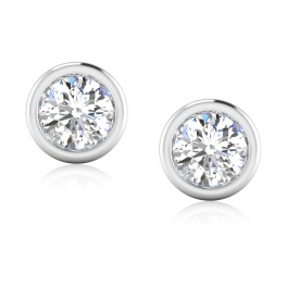 The Forever Solitaire Stud Earrings