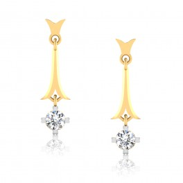 The Petal Solitaire Drop Earrings