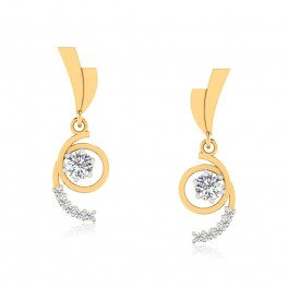 The Jasmine Solitaire Drop Earrings