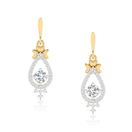 The Luxury Solitaire Drop Earrings