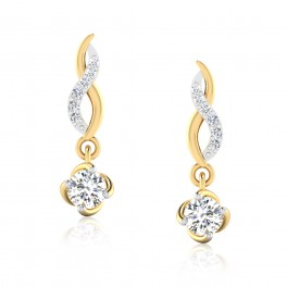 The Rose Solitaire Drop Earrings