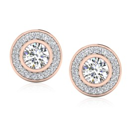 The Beauty Solitaire Stud Earrings