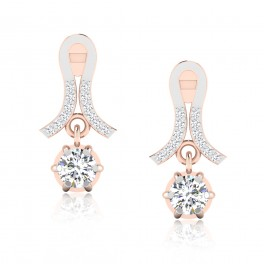 The Vinsey Solitaire Drop Earrings