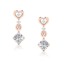 The Famous Solitaire Drop Earrings