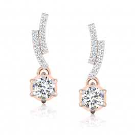 The Lovable Solitaire Drop Earrings