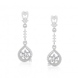 The Sachita Solitaire Drop Earrings