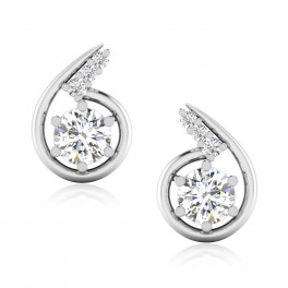 The Deshita Solitaire Stud Earrings