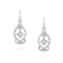 The Aditri Solitaire Drop Earrings