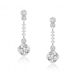 The Annanya Solitaire Drop Earrings