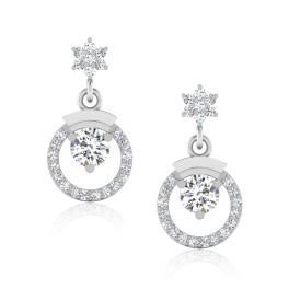 The Lawish Solitaire Drop Earrings