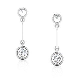 The Princey Solitaire Drop Earrings