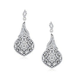 The Navish Silver Dangle Earrings