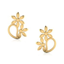 The Decorative Gold Stud Earrings