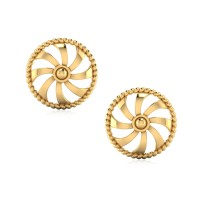 The Efflorescent Gold Stud Earrings