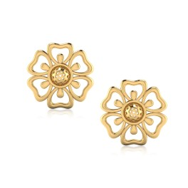 The Flowery Gold Stud Earrings