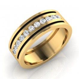 The Darrin Mens Gold Band