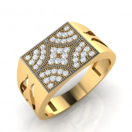The Tipsy Diamond Mens Ring
