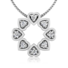 The Heart Disk Silver Pendant