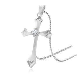 The Divine Cross Silver Pendant