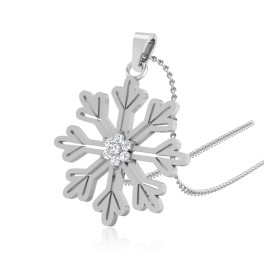 The Wondrous Snowflake Silver Pendant