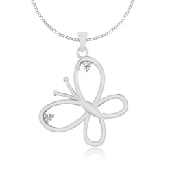 The Lambent Butterfly Silver Pendant
