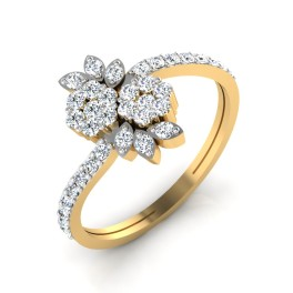 The Enticing Floral Diamond Ring