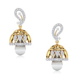 Relish Cluster Diamond Jhumkas