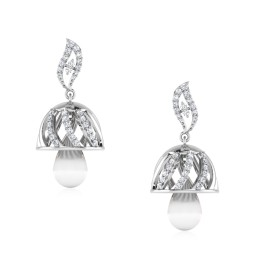 Ethereal Silver Jhumkas