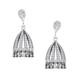 The Traditional Silver Jhumkas