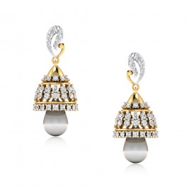 The Anisa Diamond Jhumkas