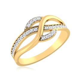 The Ethea Swirl Diamond Ring