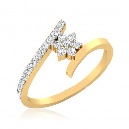 The Flame Cluster Diamond Ring