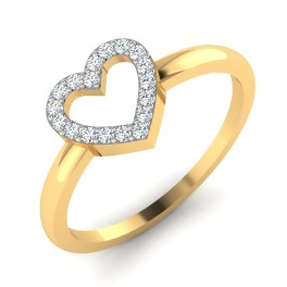 The Enigma Heart Diamond Ring