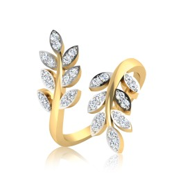 The Leaf Diamond Ring