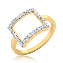 The Rectangle Diamond Ring