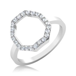 The Hexagon Diamond Ring