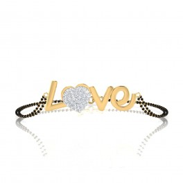 The Lanet Diamond Mangalsutra Bracelet