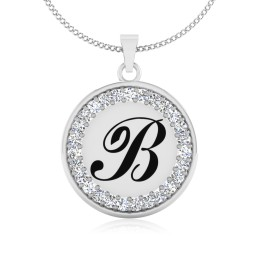 The Radiant B Silver Pendant
