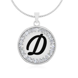 The Radiant D Silver Pendant