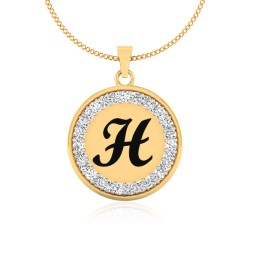 The Radiant H Silver Pendant